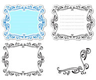 Curly labels Stock Images