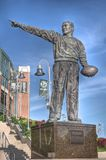Statue of Curly Lambeau Stock Photography