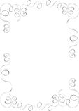 Curly line border  Royalty Free Stock Photos