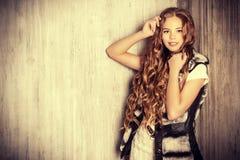 Curly long hair stock photo