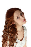 Curly long haired girl Royalty Free Stock Images