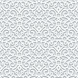 Curly seamless pattern in neutral color Royalty Free Stock Photos