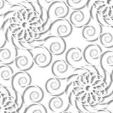 Curly Ornamental Background Stock Photo