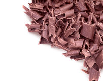 Curly pieces of milk chocolate Royalty Free Stock Images
