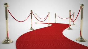 Curly red carpet. 3d high quality rendering Stock Photos