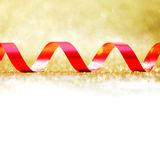 Curly red gift ribbon Royalty Free Stock Images