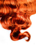 Curly Red Hair. Over White Background Stock Images