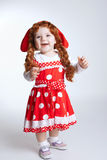 Curly red hair girl portrait Stock Photo