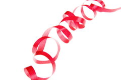 Curly and red ribbon Stock Photo