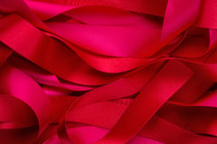 Curly red ribbon Royalty Free Stock Photography