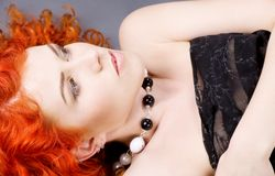 Curly redhead beauty Royalty Free Stock Photos