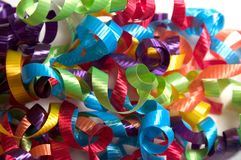 Curly Ribbon. On white background stock photo