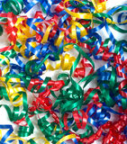 Curly ribbon background Stock Photography