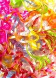 Curly ribbon background stock image