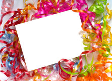 Curly ribbon Notecard Royalty Free Stock Photo