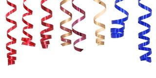 Curly ribbons Stock Photos