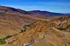 Curly road in the High Atlas mountains Stock Photography