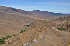 Curly road in the High Atlas Stock Image