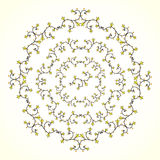 Curly round ornament. Round floral pattern of whorls, floral ornament Royalty Free Stock Photos
