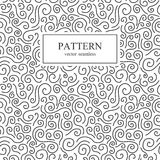 Curly seamless pattern. Curve seamless pattern in memphis style. Retro fashion 80-90s stock illustration