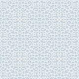Curly seamless pattern in neutral color stock illustration