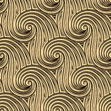 Curly seamless waves Stock Photos