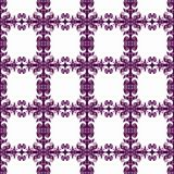 Curly squares pattern seamless background. Purple curly squares background pattern seamless Tile Stock Photo