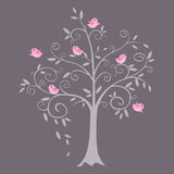 Curly tree vector illustration Royalty Free Stock Photos