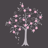 Curly tree vector illustration Stock Images