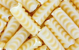 Curly Tubular Pasta up Close Stock Image