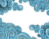 Curly waves frame Royalty Free Stock Image
