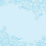 Curly and wavy background. Sea tides. Blue wavy soft background border Vector Illustration