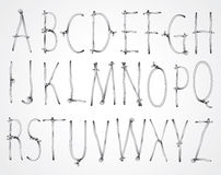 Curly wire font Stock Photography