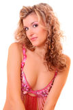 Curly woman Royalty Free Stock Image