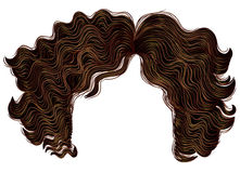 Curly women hairs brown colors . Royalty Free Stock Photo