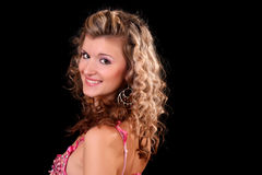 curly young woman Stock Image