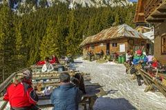 Curmatura hut, Piatra Craiului, Romania Royalty Free Stock Images