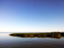 Curonian盐水湖,立陶宛 库存图片