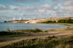 Curonian Lagoon in Nida resort town Stock Image