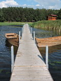 Curonian lagoon shore, Lithuania Royalty Free Stock Photo