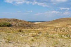 Curonian mierzei diuny opustoszały krajobraz w Lithuania fotografia stock