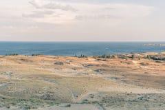 Curonian mierzei diuny opustoszały krajobraz w Lithuania obraz royalty free