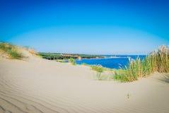 Curonian mierzeja, piaski modelował wiatrem Fotografia Royalty Free