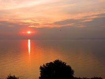 Curonian spit in sunset colors, Lithuania Stock Image