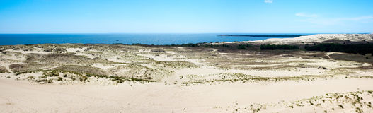 Curonian Spit. Dunes on the Curonian Spit near Nida, Lithuania Royalty Free Stock Image