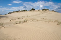 Curonian spit sand dunes. Parnidis sand dunes at Curonian spit in Lithuania. UNESCO world heritage site stock image
