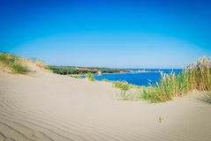 Curonian Spit, sands modelled by the wind Royalty Free Stock Photography
