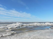 Curonian Spit shore in winter, Lithuania Stock Photos