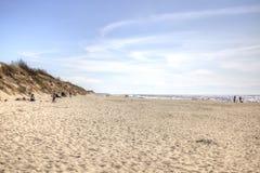 curonian spotta Segla utmed kusten av det baltiska havet Arkivfoton