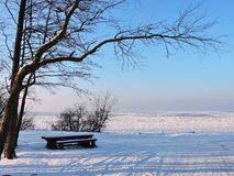 Curonian-Spuckenufer im Winter, Litauen Stockfoto